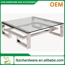 Fabricación OEM Contemporáneo de acero inoxidable marco de la tabla