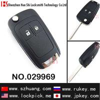 hot sale custom lock pick set car 2 button flip remote key 029969