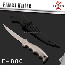 New design stainless steel Fillet knife with Sheath, Fishing knife, Kitchen knife,
