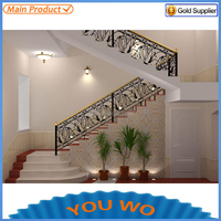 outdoor curved metal wrought iron stair railings prices