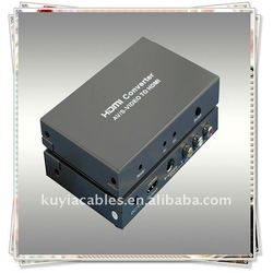 Composite 3 RCA TO HDMI Converter With the CVBS or S-video signal + Audio (L/R) to HDMI Signal output
