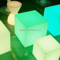 PE Material Led Furniture Wireless Rechargeable 50cm PE Led Light Cube Bar Chairs And Tables