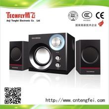 2.1 subwoofer speaker/computer,DVD,laptop,ipod/2.1 USB/SD/Remote control speaker