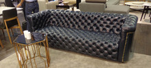 Italian style Chesterfield leather sofa