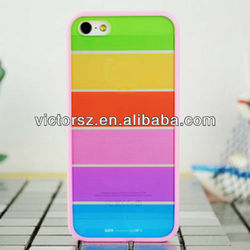 plain phone case for iphone 5 .for iphone 5 tpu+pc cover case