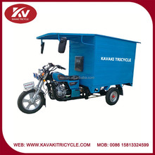 Closed carriage box 150cc air-cooled cargo tricycles with cabin made in China Guangzhou