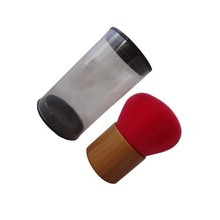 Bamboo handle red rose color cute face blender brush essential oil