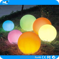 Waterproof plastic shell LED ball with charming light use for bar /party /wedding /garden