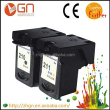 Hot selling Remanufactured Ink Cartridge For Canon PG 210 CL 211 Cartridge for Canon PIXMA MP270/MP280/MP480/MP490