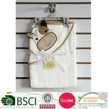 Cotton hooded baby bath towel