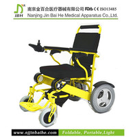 Aluminum folding power jazzy electric wheelchair