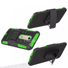 3 in1 hybrid combo kickstand stand case for moto x style with belt clip case