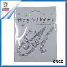 2015 OEM wholesale rhinestone letters stickers for scrapbook