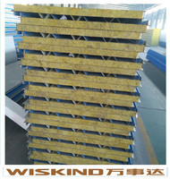 Structural Rock wool insulated sandwich panels for cold rooms
