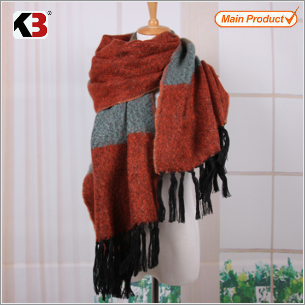 2016 Promotional Style Knitted Scarf Long Style Knitted