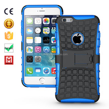 Kickstand Hybrid ARMOR Wholesale TPU+PC Compatible cell Phone Case cartoon back case for apple 6