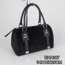 fashion women suede black cask handbag