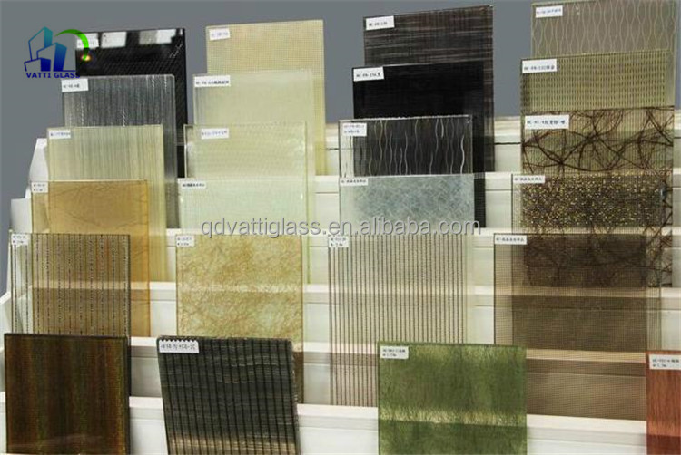 Decorative Fabric Laminated Glass Panel Decorative Tempered Textured ...