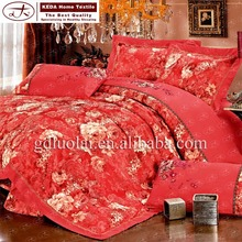 china supplier home textile geometry print comforter set embroidery bedding set king size bed sheet