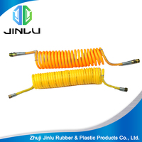 long life PE PA PU spring spiral rubber air brake hose for truck