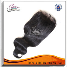 Factory wholesale price bleached knots top quality mongolian wavy virgin hair with closure