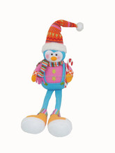 Animal plush toy Christmas family penguin