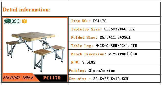 2016 야외 바베큐 접이식 테이블 벤치 세트 야외 테이블-접는 ...