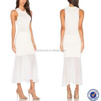 Chiffon maxi dress muslimah plus size fashion white chiffon hem patwork party maxi long dress
