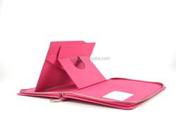 Portfolio belt clip case for 7 inch tablet pc with zipper