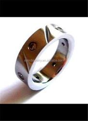 2015 anillo de compromiso de acero inoxidable por encargo