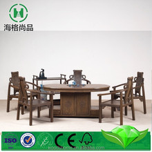 Unique design pedestal dining table , kitchen sets