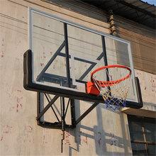 High Quality Wall Mounted glass backboard with basketball hoops