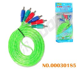 High Definition 3m AV Cable 3 RCA to 3 RCA Male To Male AV Cable (606-3m-white- green-blue package)
