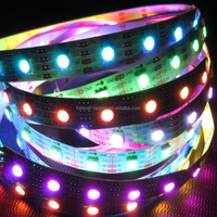 continuous led strip APA102 72LEDs/m with 72pcs WS2801 IC built-in the 5050 SMD RGB LED Chip;DC5V,White PCB