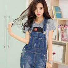 Han mold denim strap piece pants loose leisure wild influx of women harness Jeans for women lady girl
