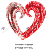 2015 new arrival big size Xo heart foil balloon large helium balloons