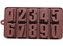 hot sell silicone rubber Number pattern chocolate mold