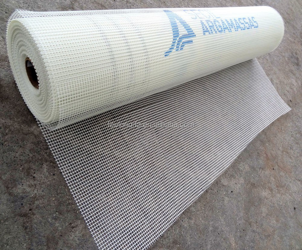 White Fiberglass Mesh : G mm white alkali resistant logo printed fiberglass mesh
