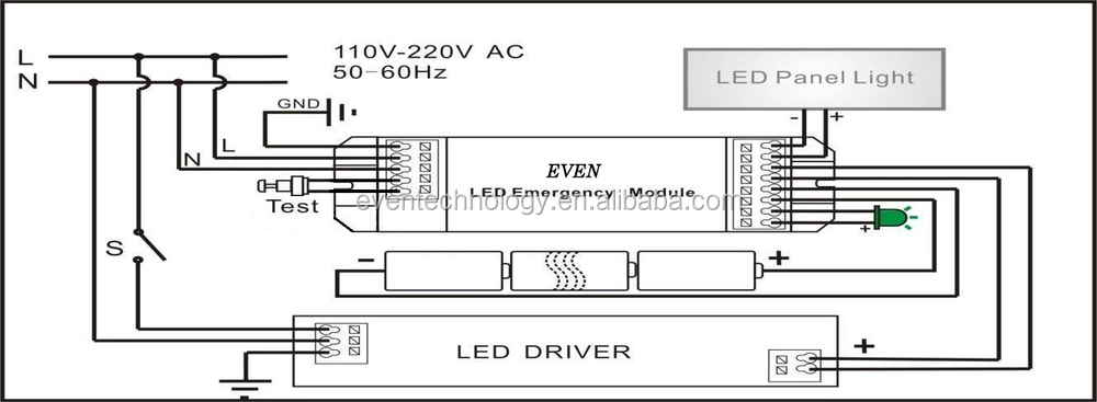 Rechargeable battery operated led downlight used for emergency power led panel connection diagramg asfbconference2016 Images