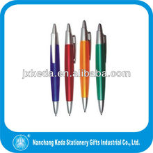 2014 Transparent Clear Charger Wave Clip And Wave Body Pen Plastic Pen,free pen sample