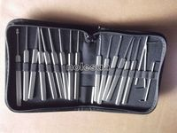 klom electric auto smart 2014 New stainless steel 15+3=18 pcs lock pick set for used klom key decoder for locksmith supply