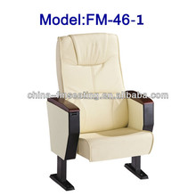 FM-46-1 Synthetic leather seat of auditorium with writing pad