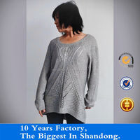 casual partial jacquard sweater for woman
