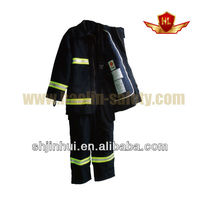 radiation protection clothing , CE approved nomex material fire fighter suit