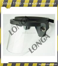 estilo de la moda escudo de la cara y de alta resistencia anti disturbios visera del casco