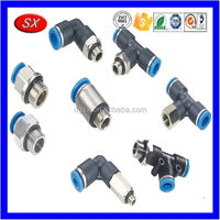 Custom plastic pneumatic fittings/fitting pipe,stainless steel insert fitting pipe pushing in PU tubing and PA tubing