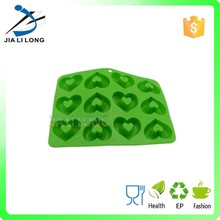 Green heart shape silicone make chocolate mold