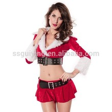adultos sexy ropa de dormir las mujeres santa navidad disfraces