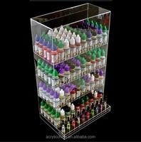 Customized clear e-liquid juice acrylic display stand,display case e-liquid juice acrylic display stand