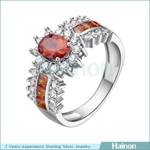 ruby stone lady wedding ring high quality plating 18k white gold platinum